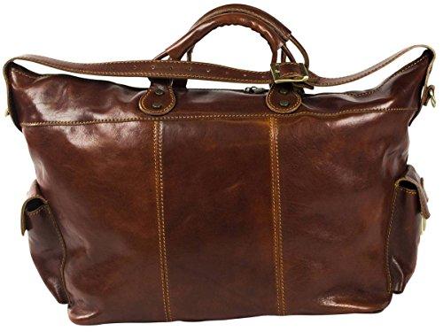 Brauner Leder Reisetasche von David Van Hagen