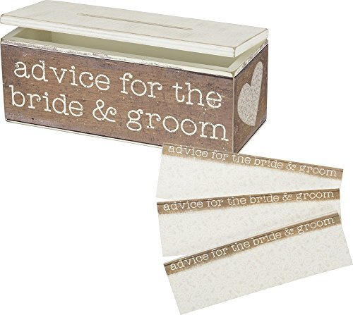 Primitives by Kathy Advice For The Bride and Groom Advice Box by Primitives by Kathy