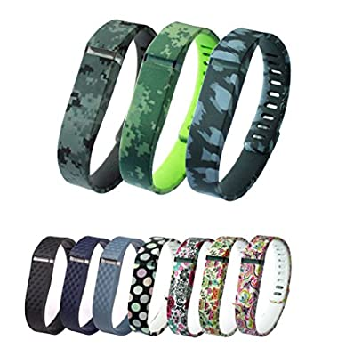 Greeninsync New Laser Colors Replacement Bands for Fitbit FLEX (Large / Small Optional)