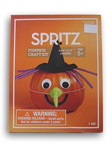 SPRITZ Pumpkin Decorating Witch Kit for 9'' to 13'' (Witch Pumpkin)