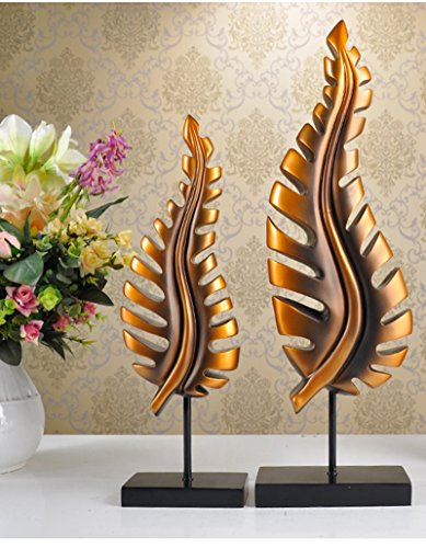 KTYXDE Creative Leaf Decoration Office Modern Personal Decoration Practical Decoration Crafts Ornaments (Color : Antique Copper)