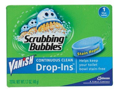 SC Johnson 00191 1.7 Oz Blue Vanish Drop-Ins Automatic Toilet Bowl Cleaner