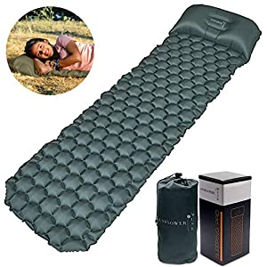 Sunflower Musk Inflatable Sleeping Pad w/Adjustable Pillow – Camping Sleeping pad (Long) – Ultralight Camp Pad for Backpacking – Hiking Sleep mat