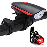 Bike Light USB Rechargeable Bicycle Headlight Super Bright Waterproof Cycling Frontlight + Taillight - Easy Install for Kids Men Women Road Cycling Mountain Flashlight