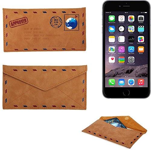 Kunstleder Handyhülle Schutz Hülle für Apple iPhone 6 Plus in braun. Briefumschlagoptik Slim case cover pouch für Handys / Smartphones Bookstyle Wallet Case - K-S-Trade(TM) (Wir zahlen Steuern in Deut