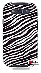 Zoo Animal Zebra Skin Hair Unique Quality Rubber Soft TPU Case for Samsung Galaxy S3 SIII i9300 (WHITE) wangjiang maoyi
