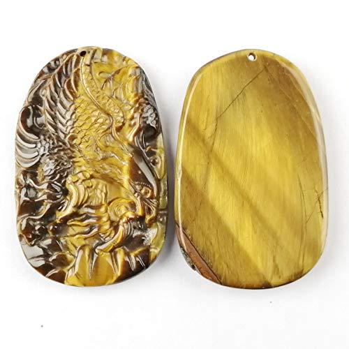 (yt New Carved Tiger Eye Gem Phoenix Pendant Bead Trendy Jewelry Women Accessories)