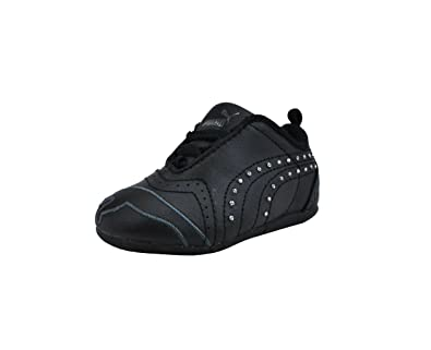 f2afefe6fd50 Puma Shoes Sela Diamond Rhinestone Infant Toddler Black Sneakers (3 M US  Infant)