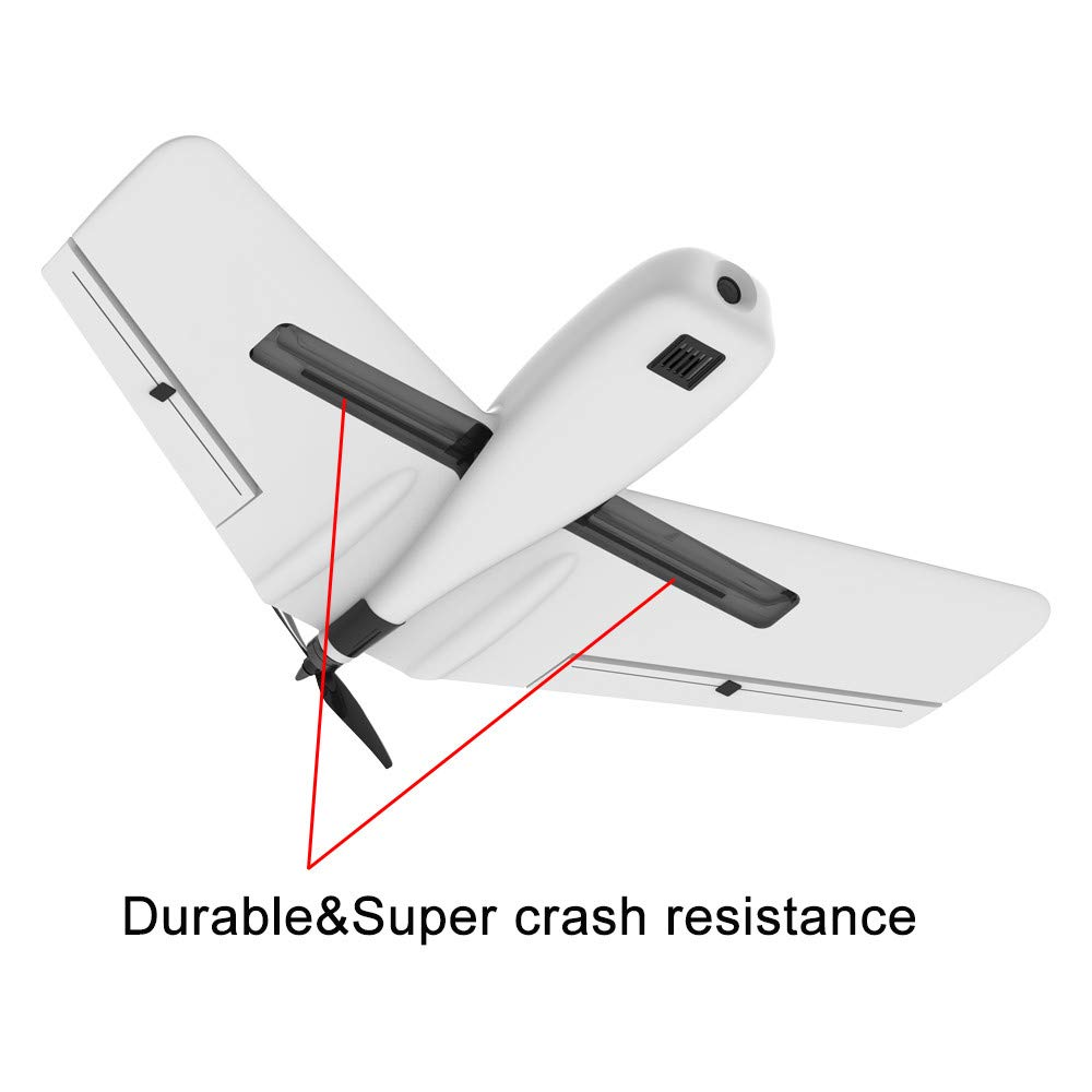 Hisoul ZOHD Dart Sweepforward Delta Wing Glider FPV EPP Racing Wing RC Airplane PNP (White) by Hisoul (Image #5)