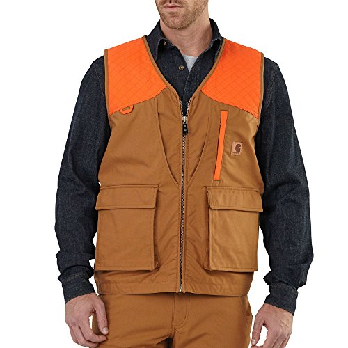Carhartt Men's 102228 Upland Field Vest - Unlined - X-Large Regular - Carhartt Brown