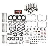Evergreen HSHBIEV9012 Head Gasket Set Head Bolts Intake Exhaust Valves Fit 04-09 Subaru Impreza Legacy Forester Outback 2.5 EJ25 SOHC
