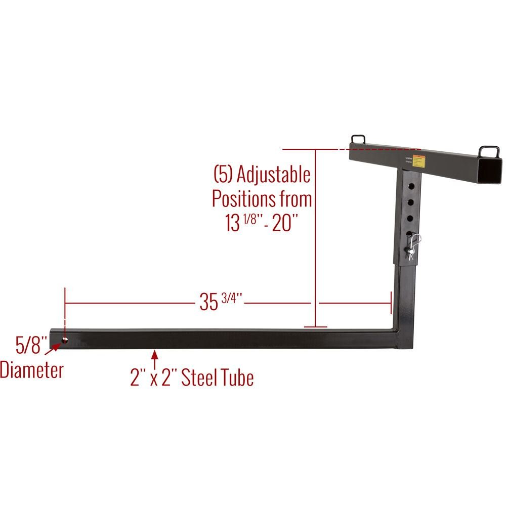 Apex Rage Powersports TBE-48 Truck Bed Extender (36' Pickup for 2' Class III/IV Receivers) by Apex (Image #6)