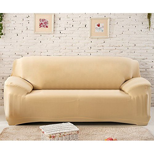 Stretch Seat Chair Covers Couch Slipcover Sofa Loveseat Cover 9 Colors/4 Size Available for 1 2 3 4 Four People Sofa + Pillowcase (91
