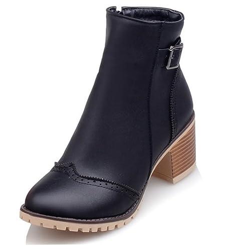 SHOWHOW Damen Martin Boots Kurzschaft Stiefel Mit Absatz Rot 46 EU uU2IGzp