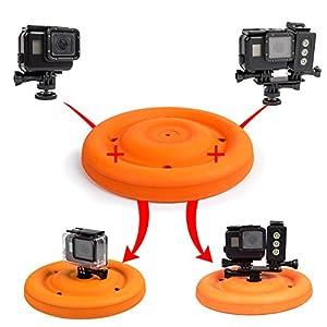 GoFrisbee - Frisbee Floating Mount for GoPro Accessories Hero Hero3 Hero4 Hero5 SjCam Eken Action Camera Floaty Float Buoyancy Waterproof Flying Disc - Used for Pets Dog Fetch By ADIKA