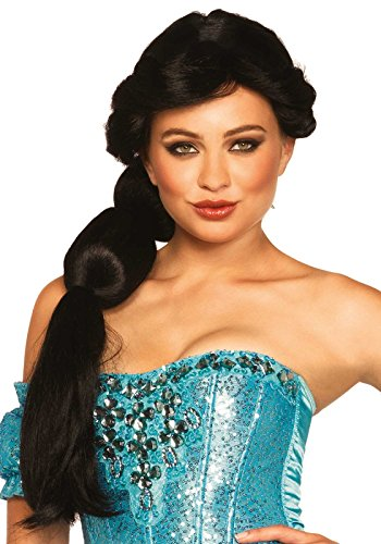 Halloween 2017 Couples Costume Ideas - Leg Avenue Women's Arabian Beauty Wig, Black, One Size