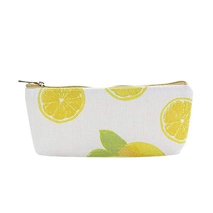 724057c4a7f9 Amazon.com: KFSO Pencil Bag, Lemon Owl Creative Simple Large ...