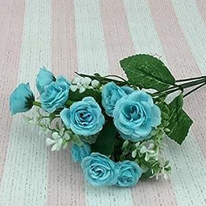 Alcyoneus 1 Bouquet 5 Branches 15 Heads Artificial Rose Faux Silk Flower Wedding Home Decor 2