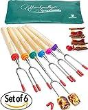 Popular Carpathen Marshmallow S'mores Roasting Sticks - Set of 6 Extra Long ...