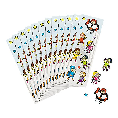 Superhero Super Hero Stickers sheets
