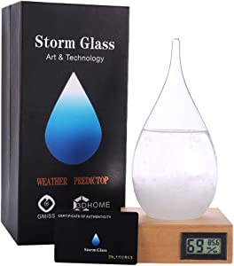 G GGPOWER Storm Glass Weather Stations Water Drop Weather Predictor Creative Forecast Nordic Style Decorative (X-L)
