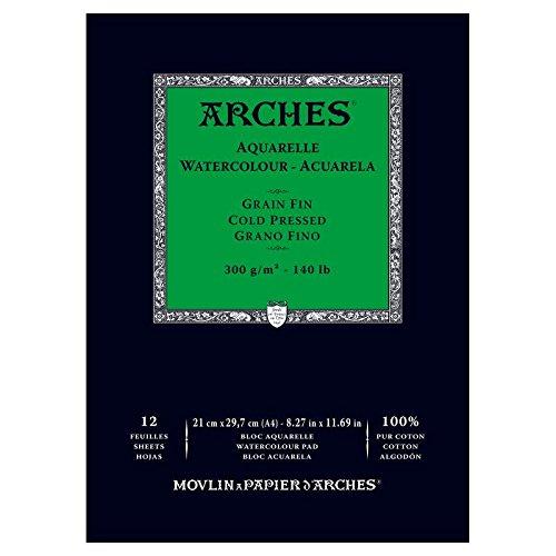 - 1795091Watercolour Block Arches Aquarelle Wood 29.7x 21x 1cm