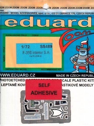 EDUSS489 1 72 Eduard Farbe Zoom PE - F-35B Lightning II Interior (for use with the Fujimi kit) MODEL KIT ACCESSORY by Eduard
