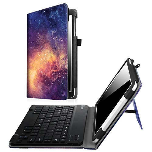 Fintie Keyboard Case for Samsung Galaxy Tab E 9.6 - Slim Fit PU Leather Stand Cover with Premium Quality [All-ABS Hard Material] Removable Wireless [Long Life Battery] Bluetooth Keyboard, Galaxy