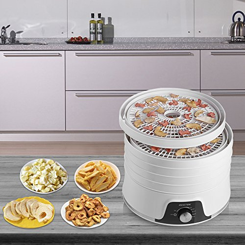 BESTEK Electric and Vegetable Dryer with Adjustable Temperature Control Stackable Trays