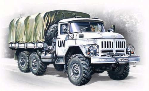 (ICM Models ZiL-131 Army Truck Building Kit)