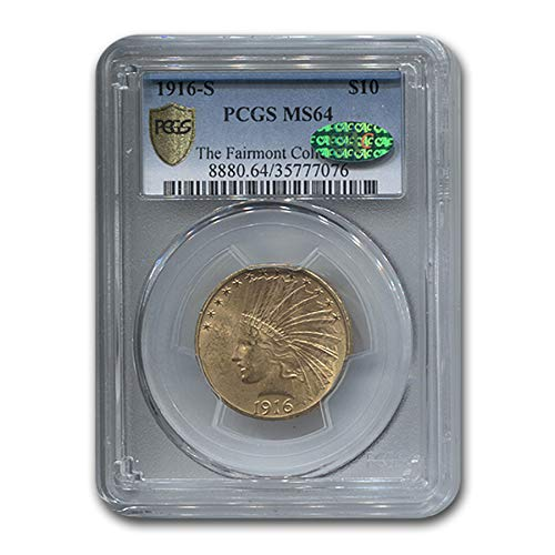 1916 S $10 Indian Gold Eagle MS-64 PCGS CAC G$10 MS-64 PCGS
