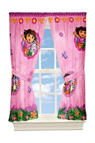 Nickelodeon Dora Fun In the Jungle Window Panels, 82 by 63-Inch
