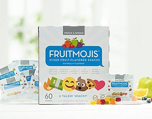 Prince & Spring - Fruitmojis Snacks - 60 x 0.8 oz - FAT FREE/GLUTEN FREE Fruit Snacks