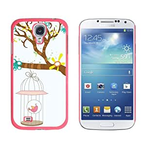 Spring Easter Bird in Cage Hanging From Tree - Snap On Hard Protective Case for Samsung Galaxy S4 - Pink by icecream design
