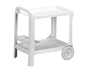 Carrello Portavivande Da Giardino : Progarden 573000 carrello portavivande astro in plastica bianco
