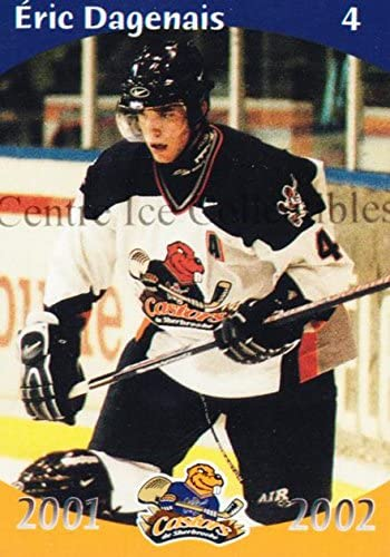 Eric Dagenais Hockey Card 2001-02 Sherbrooke Castors #2 Eric Dagenais