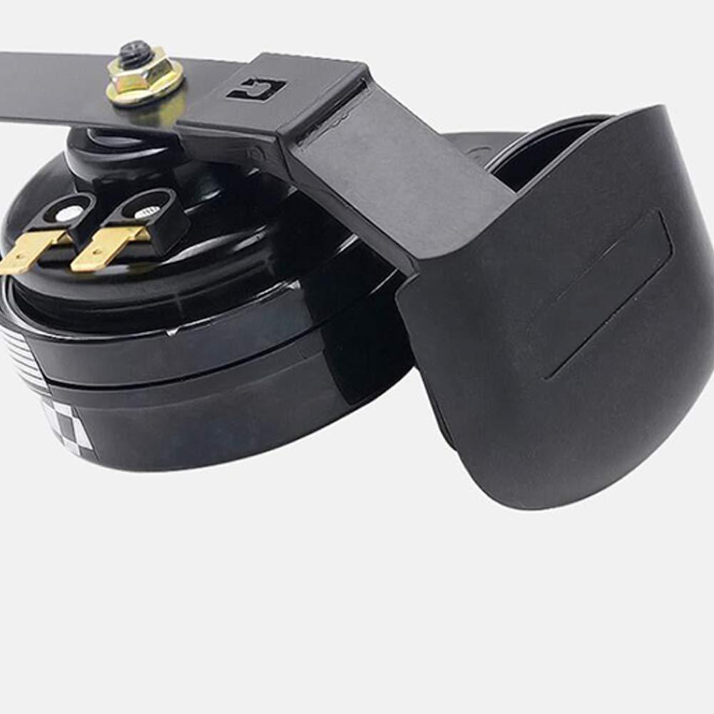 mxdmai Snail Air Horn 12V Corne Universal Escargot Sir/ène Corne Pr/ésident Corne /électrique /étanche Snail Air Horn pour Moto Auto Voiture 1 Set