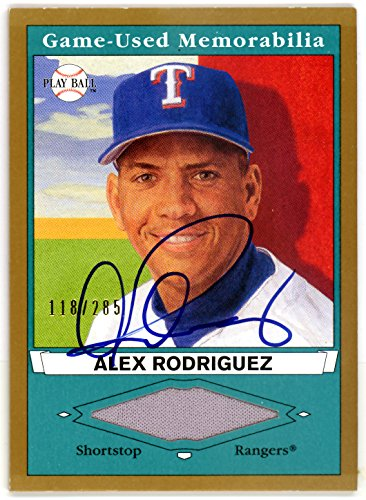 Alex Rodriguez Autographed 2003 Upper Deck Play Ball Jersey Card #PB-AR2 Texas Rangers #/285 SKU #116494