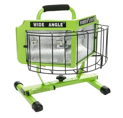 Designers Edge L-5203 1000-Watt Double Bulb Halogen 160-Degree Wide Angle Surround Portable Worklight, Green
