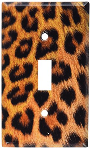 Art Plates - Faux Leopard Fur Switch Plate - Single Toggle
