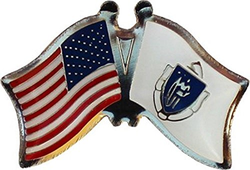 Lapel pin - Lapel pins for Women Men - Flag - USA American State of Massachusetts