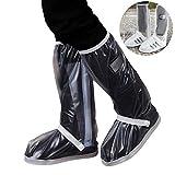 Los zapatos a prueba de lluvia cubren antideslizantes antideslizantes antideslizantes resistentes al desgaste tubo alto hombres y mujeres al aire libre hombres y mujeres viajan cubierta impermeable para pies,material blanco