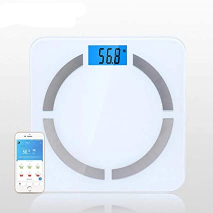 8 En 1 Balanza Digital Bluetooth Inteligente Balanza Pesas Electrónica Báscula Peso Balanza Adelgazamiento Báscula Pesaje