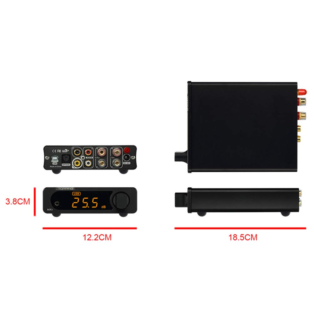 Topping MX3 Built-in Bluetooth Receiver DAC Headphome Amp Digital Amplifier (Black) by Topping (Image #7)