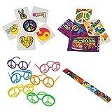 Retro Peace Sign Toy Party Favor Supplies 180 Piece Set for 12 Bundle