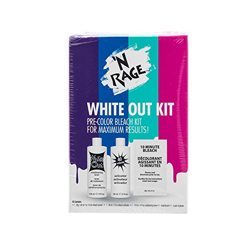 Rage Kit - 'N Rage Bleach & Toner Kit, White Out Kit Pre Color Bleach Kit