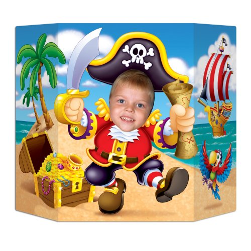 Pirate Photo Prop Party Accessory (1 count) - Prop Pirate Hanging