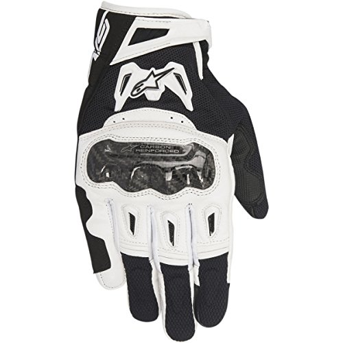 Alpinestars SMX-2 Air Carbon v2 Gloves (XXX-LARGE) (BLACK/WHITE) ()