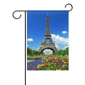 wozo romántico de la torre Eiffel Paris tour poliéster bandera al aire libre de bandera de Jardín Casa Fiesta