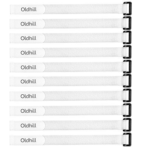 Oldhill Hook and Loop Cinch Straps Adjustable and Reusable - 10 Pack (12